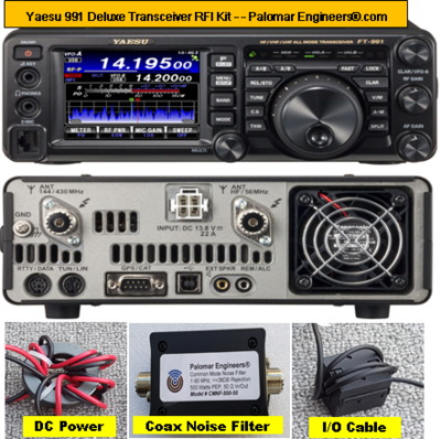 Yaesu 991 Deluxe Transceiver RFI Kit - 6 RFI/Noise Reduction Filters + Coax Noise Filter