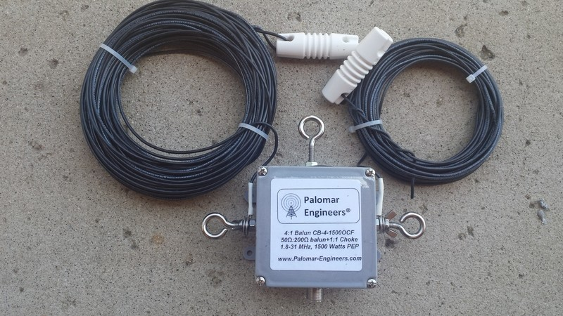 Off Center Fed Dipole Antenna, 80-6 Meters, 1.5KW/5KW PEP rated - FREE shipping in USA