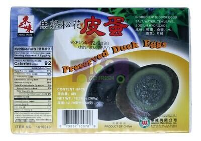 Asian Taste Preserved Duck Eggs 东之味 无铅松花皮蛋