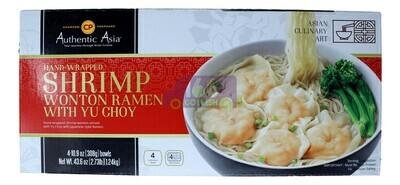 Authentic Asia Shrmip Wonton Ramen w/ Yu Choy 云吞拉面亚洲风味