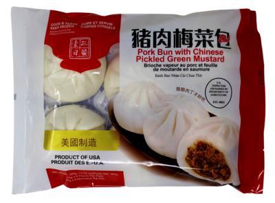 PORK AND VEGETABLE BUN 一日三餐 猪肉梅菜包  13.75 OZ
