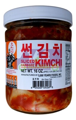 Korean Sliced Kimchi(Cabbage) 韩国 五千年牌 切泡菜(16OZ/32OZ)