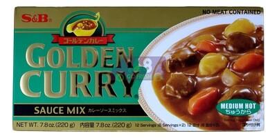 S&B Golden Curry Medium Hot  日本 S&B黄金咖喱块 中辣 (绿色)(7.8OZ)