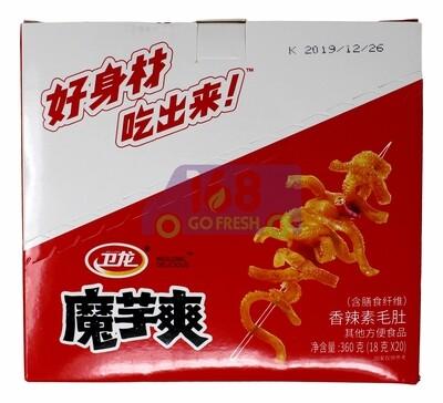 Weilong Spicy Konjac   卫龙 盒装魔芋爽(18G*20)