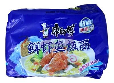 Kangshifu Fish Flavor Instant Noodle 康师傅 鲜虾鱼板面(五连包 98g*5)