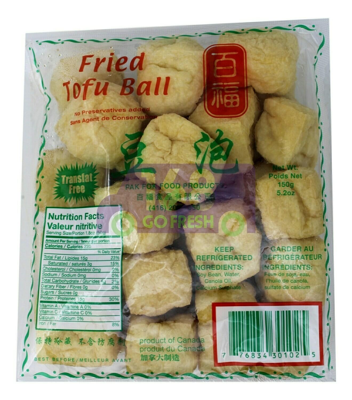 Fried Tofu Ball 百福 豆泡