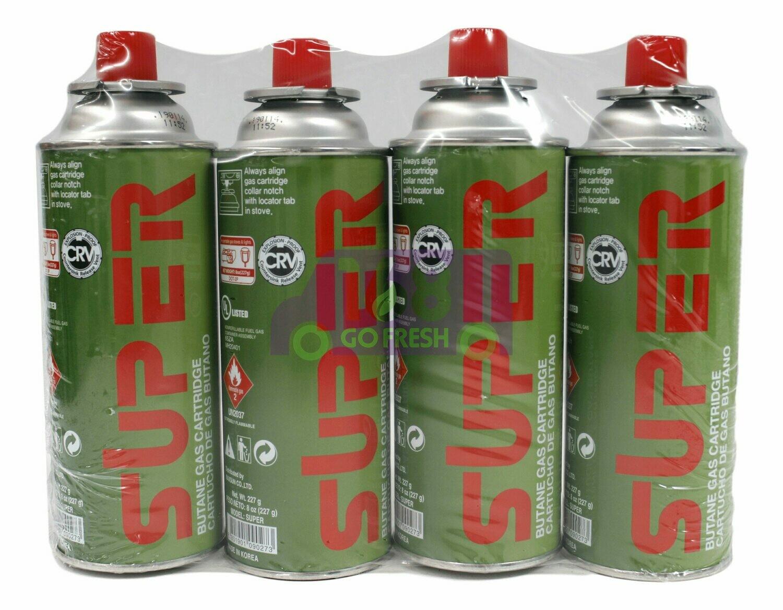 SUPER BUTANE GAS CARTRIDGE 小煤气罐(4 Cans)
