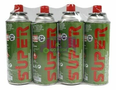 SUPER BUTANE GAS / PORTABLE GAS CARTRIDGE 小煤气罐(4 Cans)