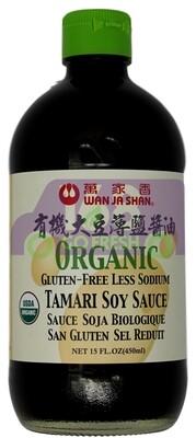 WJS ORGANIC TAMARI SOY SAUCE 万家香 有机大豆薄盐酱油15 FL.OZ