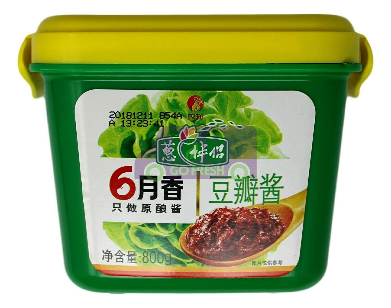 SOYBEAN PASTE 六月香 盒装豆瓣酱(800G)