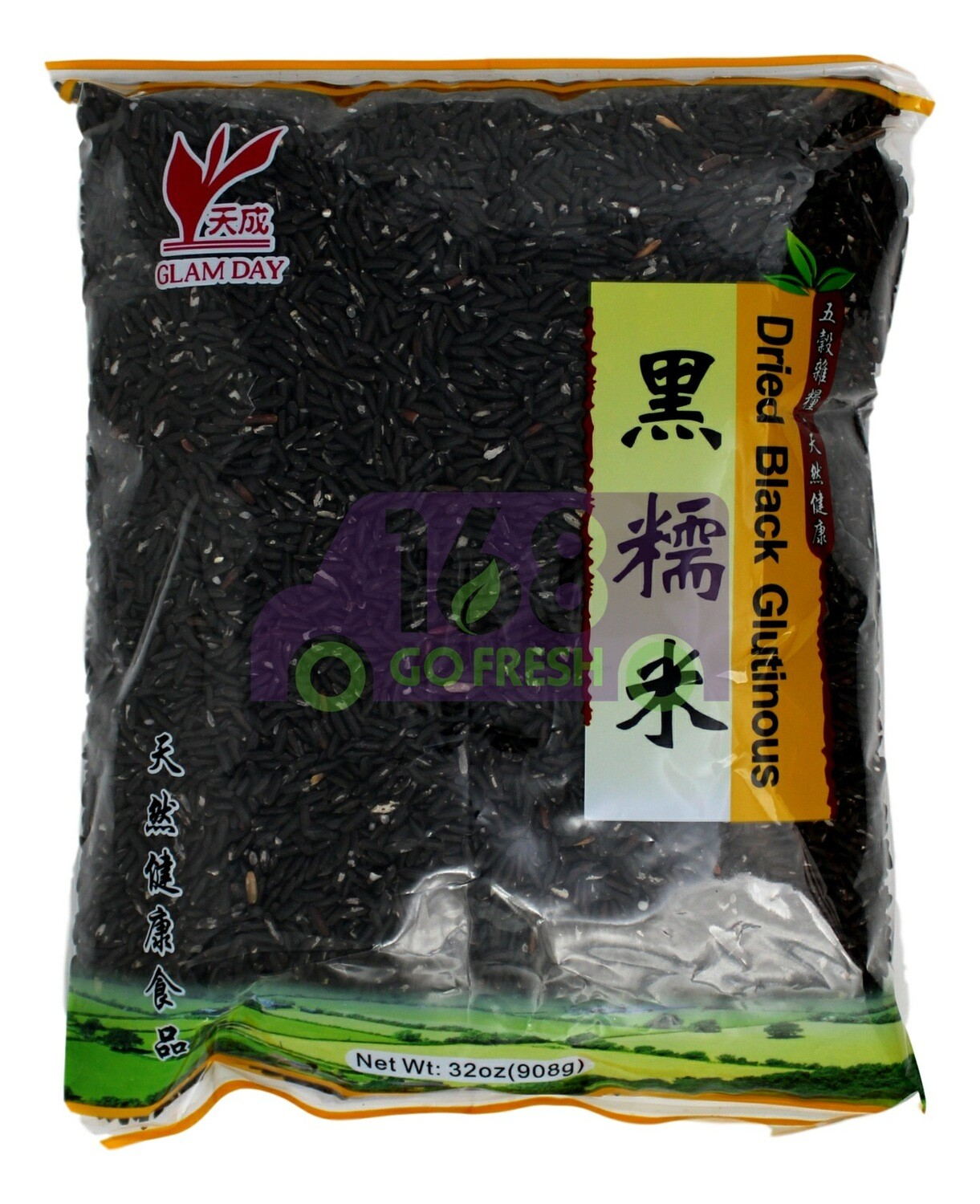 GLAM DAY DRIED BLACK GLUTINOUS RICE 东龙  黑糯米(原天成黑糯米)