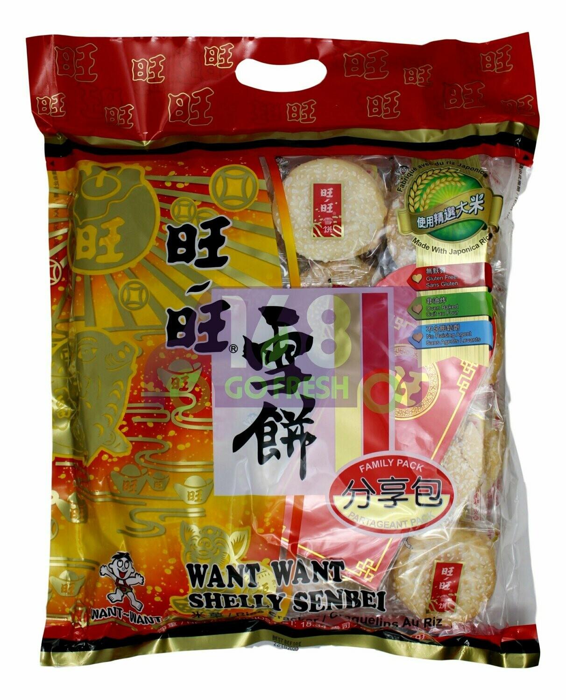 WANTWANT RICE CRACKER 旺旺 雪饼大包(520G)