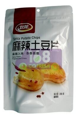 WEILONG POTATO CHIPS - SPICY FLAVOR 卫龙 麻辣土豆片