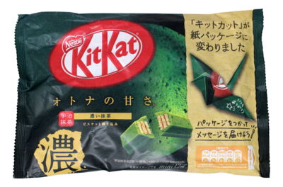 KITKAT GKEEN TEA CHOCOCATE KITKAT 日本浓郁绿茶巧克力威化 (濃)