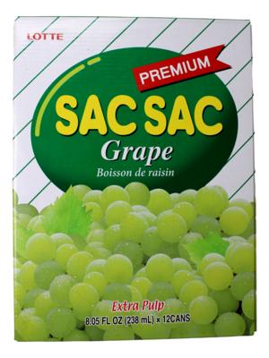 LOTTE SACSAC GRAPE(12 CANS) 韩国 乐天葡萄水(12瓶)