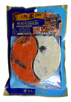HONGYADONG DOUBLE FLA. HOT POT SOUP BASE 洪崖洞 鸳鸯火锅底料(400G)