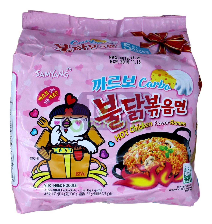 SAMYANG HOT CHICKEN FLAVOR RAMEN CARBO  韩国 三养香辣鸡芝士奶酪拉面 (粉色)