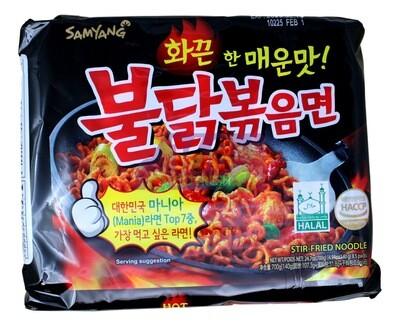 SAMYANG HOT CHICKEN NOODLE 韩国 三养香辣鸡拌面(黑)