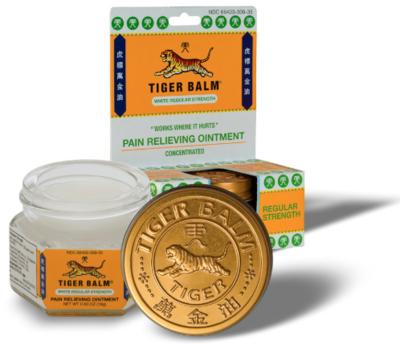 TIGER BALM Pain Relieving Ointment-White Regular Strength 虎标白色清凉油万金油18g-蚊叮虫咬.肌肉疼痛