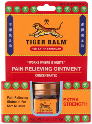 TIGER BALM Red Extra Strength Pain Relieving Ointment虎标红色强力清凉油万金油18g
