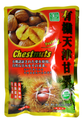 ORGANIC PEELED CHESTNUT  USDA 有机天津甘栗(250G)