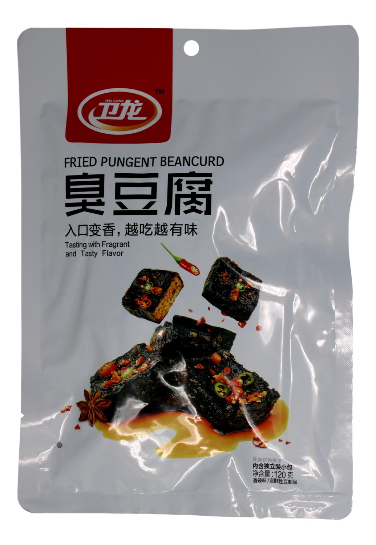 WEILONG FRIED PUNGENT BEANCURD - SPICY FLAVOR 卫龙 臭豆腐(120G)