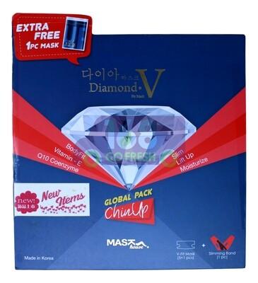 DIAMOND V Fit Mask 5+1PC韩国钻石V脸瘦脸面膜6片装-附瘦脸带