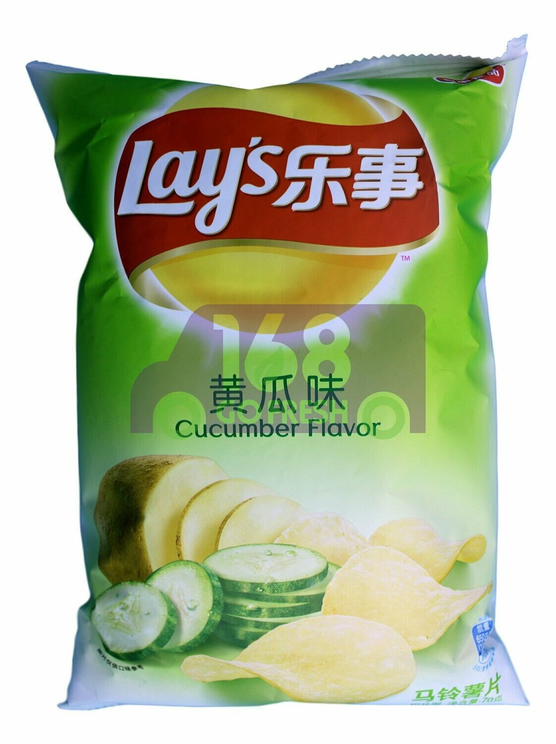 LAYS POTATO CHIPS-CUCUMBER FLAVOUR 乐事 黄瓜味薯片(70G)