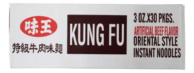 VE WONG KUNG-FU BEEF FLV NOODLES 味王 特级牛肉面(箱)