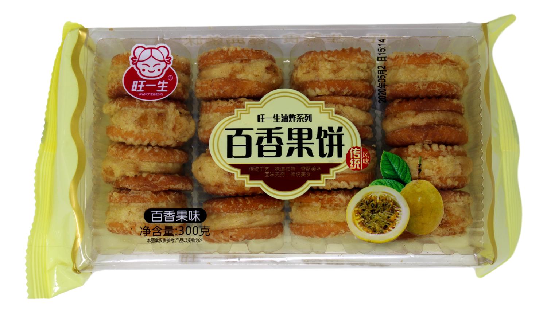 WANGYISHENG PASSION FRUIT BISCUIT 旺一生 百香果饼(300G)
