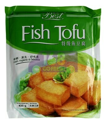 BEST FISH TOFU 极佳 鱼豆腐 (432G)