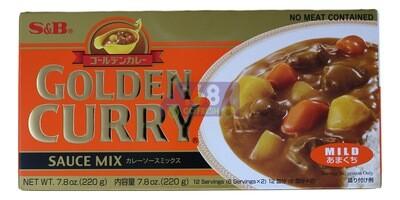 S&B GOLDEN CURRY MILD HOT 日本 S&B黄金咖喱块 小辣(橙金)(7.8OZ)