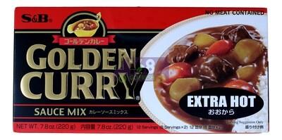 S&B GOLDEN CURRY (EXTRA HOT) 日本S&B咖喱块 特辣(红黑)(7.8OZ)