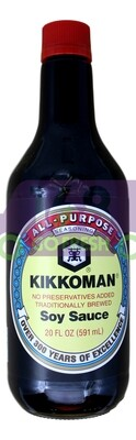 KIKKOMAN SOY SAUCE 万字 酱油 (20 FLOZ)