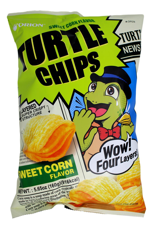 ORION TURTLE CHIPS SWEET CORN FLAVOR 韩国 好丽友乌龟薯片甜玉米风味(160G)