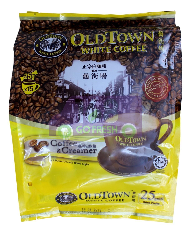 OLDTOWN WHITE COFEE (coffee&creamer) 旧街场 白咖啡 (咖啡奶精二合一)(25g*15)