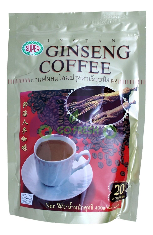SUPER GINSENG COFFEE 超级 即溶人参咖啡(20条)