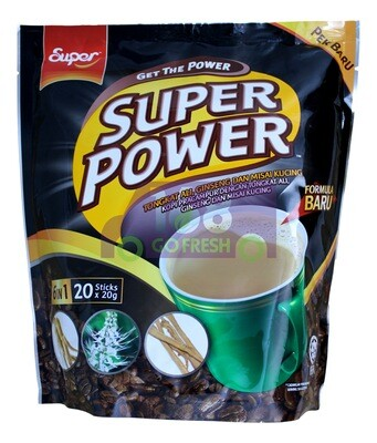 SUPER POWER 6IN1  COFFEE 超级 即溶6合1咖啡(20条)