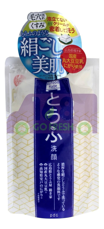PDC WAFOOD MAID Tofu Wash 170g日本PDC嫩白豆腐深层清洁洗面奶/洗面乳/洁面乳170g