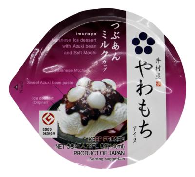 JAPANESE ICE DESSERT AZUKI AND SOFT MOCHI 日式 甜品红豆雪糕
