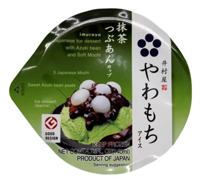 JAPANESE ICE DESSERT AZUKI AND SOFT MOCHI 日式 甜品抹茶雪糕