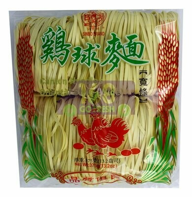 SINBO DRIED NOODLE 仙宝牌 鸡球面宽条(375G)
