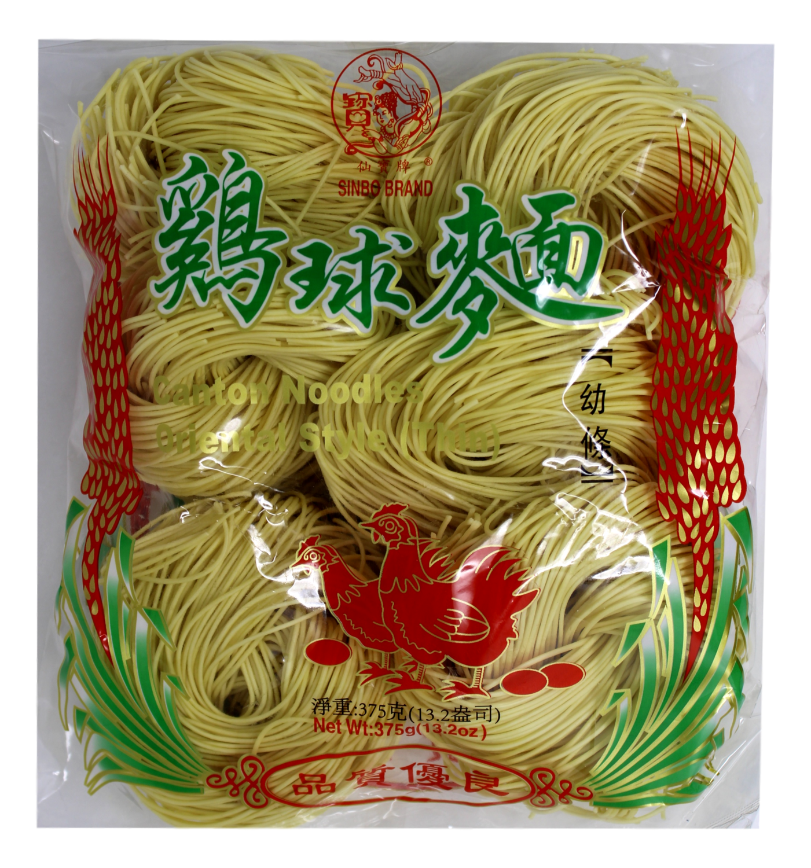 SINBO DRIED NOODLE 仙宝牌 鸡球面幼条(375G)