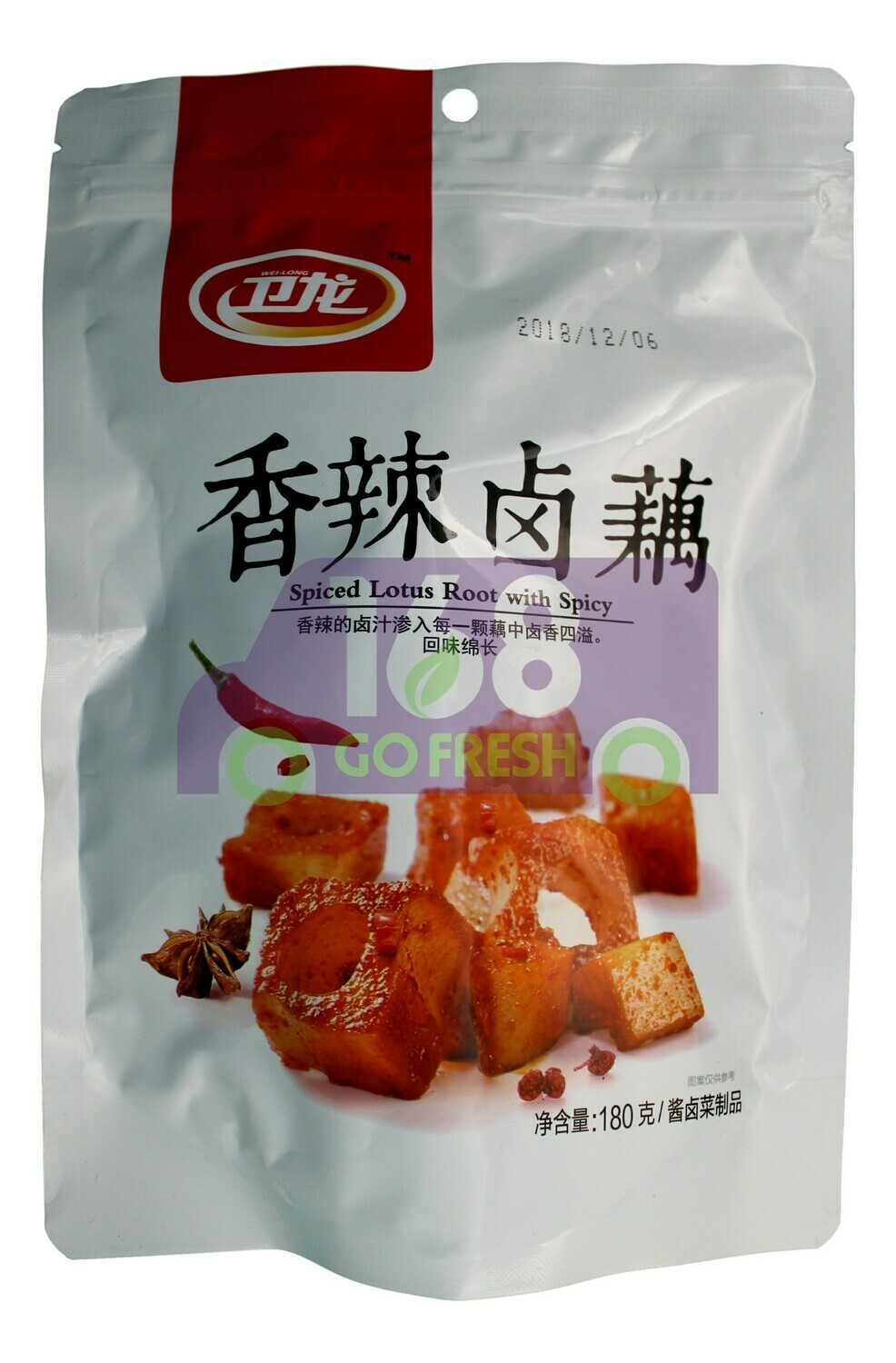 WEILONG SPICED LOTUS ROOT 卫龙 香辣卤藕(180G)