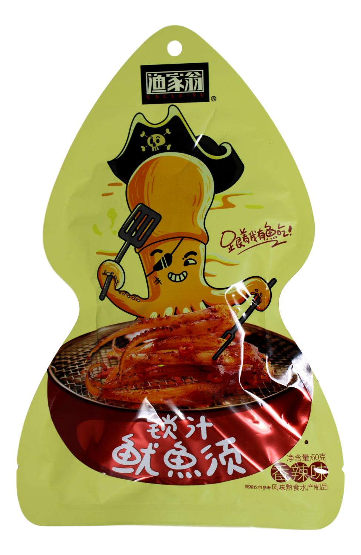 UNCLE YU SPICY SQUID 渔家翁 锁汁鱿鱼须 香辣味(60G)
