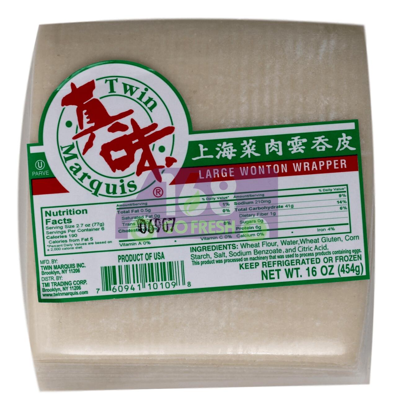 TM LARGE WONTON WRAPPER 真味 上海 菜肉云吞皮(16OZ)
