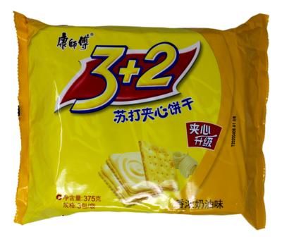 Soda Biscuit    康师傅 3+2苏打夹心饼干 香浓奶油味(375G)