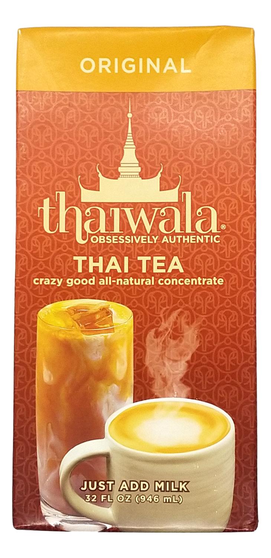 THAIWALA THAI TEA ALL NATURAL CONCENTRATE THAIWALA 原味泰茶 浓缩包装(32FL OZ)