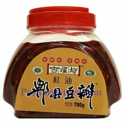 BROAD BEAN PASTE W CHILI OIL 古望坊 郫县豆瓣(780G)