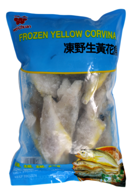WEI-CHAN Frozen Yellow Corvina 冻野生黄花鱼30/50(1.2LB)